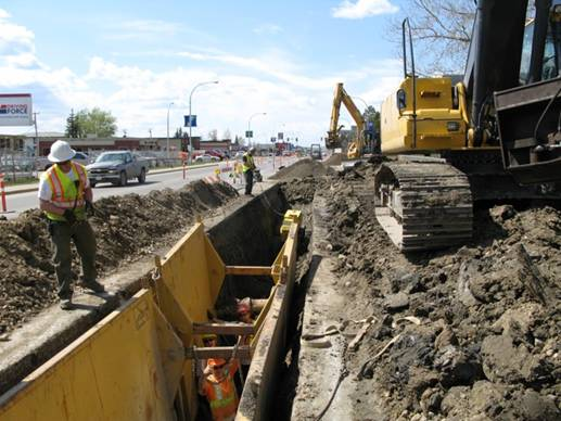 City of Fort St John – 100th Ave Watermain 100th2