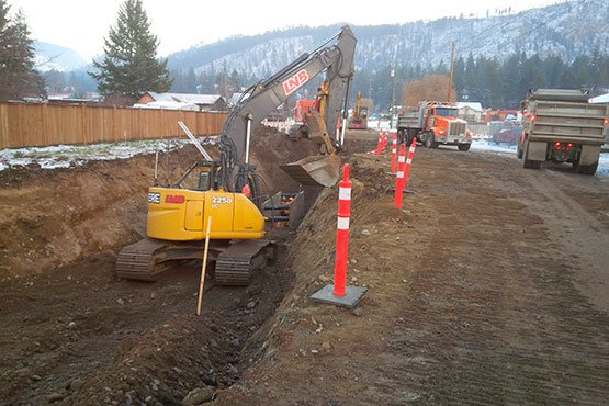District of Barriere LNB Construction  District of Barriere – Sanitary Sewer Project District of Barriere LNB Construction 555x370