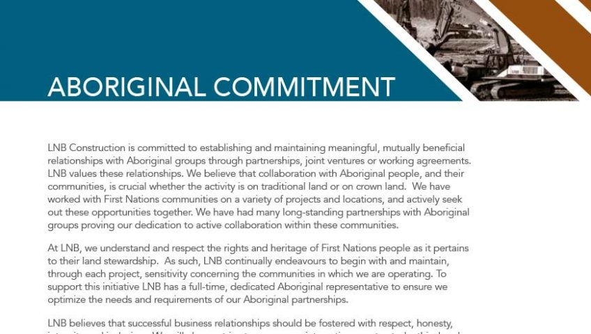 LNB Construction Aboriginal Brochure