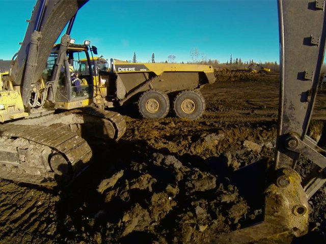 GPS enabled equipment minimizes the risk of reworking your site trucking, hauling, & hotshot services Trucking, Hauling, & Hotshot Services LNB Cost Focused Earthworks Construction 1 DuoTone on