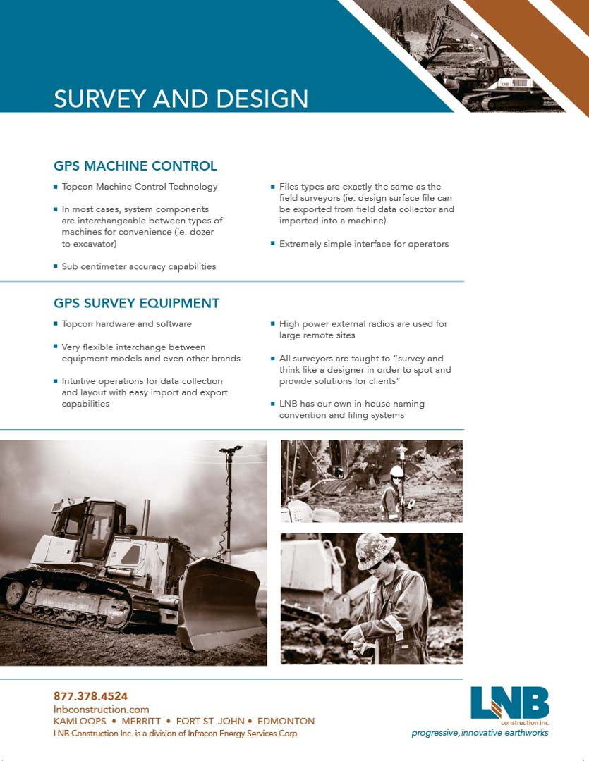 LNB Survey Design Brochure  LNB Construction Survey and Design 2015 LNB Survey Design Brochure Full web image