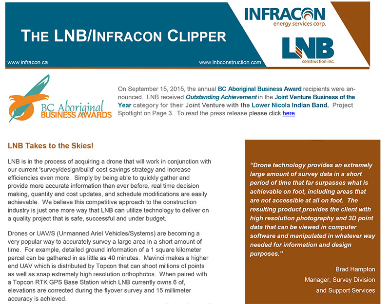 infracon energy services Infracon Energy Home Page LNB Infracon Clipper Featured